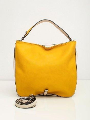 Żółto-ecru torba miejska