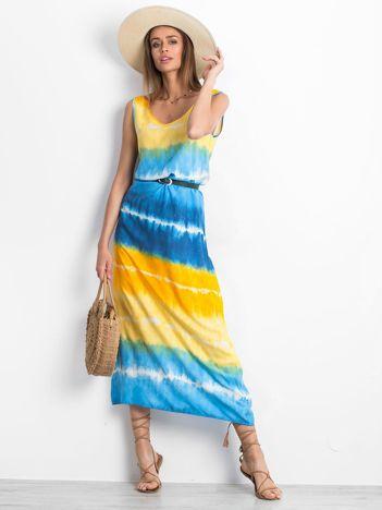 Żółto-niebieska sukienka Lagoon