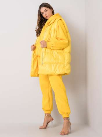 Żółty komplet casualowy Roxanne
