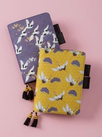 Żółty notes z motywem orientalnym
