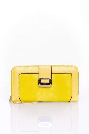 Żółty portfel ze złotą klamerką