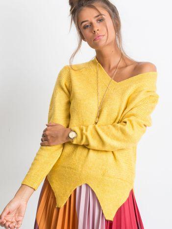Żółty sweter Believe