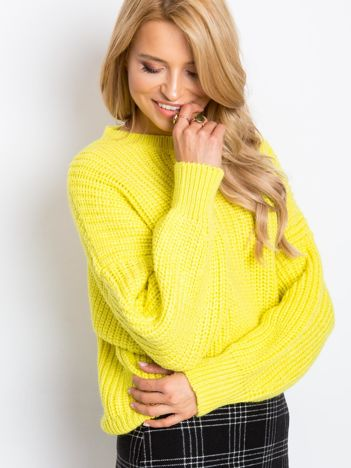 Żółty sweter Zoe