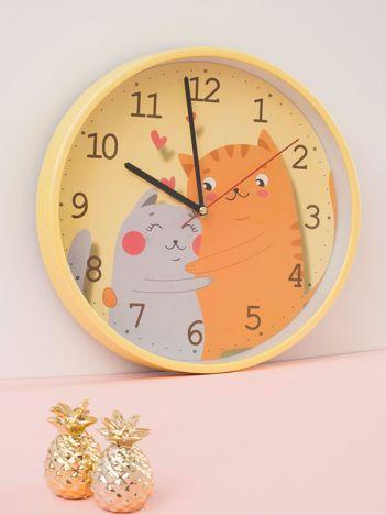 Żółty zegar ścienny