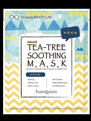 huangjisoo Tea-Tree Soothing Mask Naturalna koreańska kojąca maska do twarzy w płachcie 32 g