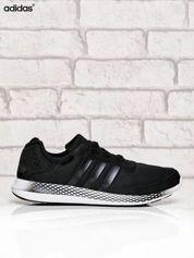 ADIDAS czarne buty męskie ze wzorem na podeszwie