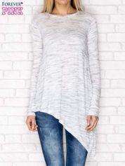 Asymetryczna bluzka jasnoszara