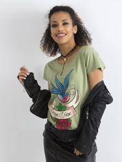 Bawełniany t-shirt zielony