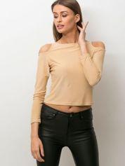 Beżowa bluzka damska cut out