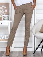 Beżowe spodnie regular