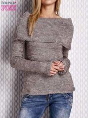 Beżowy sweter z cekinami