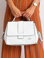 Biała damska torebka skórzana