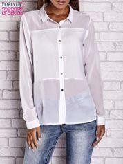 Biała koszula mgiełka z dłuższym tyłem