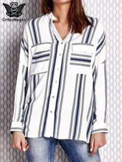 Biała koszula w paski