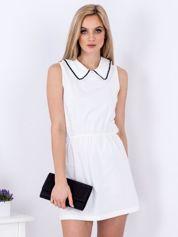 Biała sukienka z kołnierzykiem