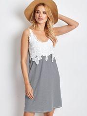 Biało-granatowa sukienka Daybreak
