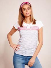 Biało-szary t-shirt w paski