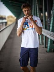 Biały t-shirt męski KACZOR DONALD