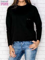 Bluza z kieszenią czarna
