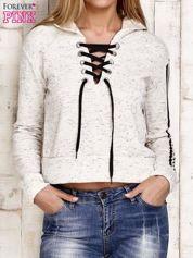 Bluza z wiązaniem kremowa