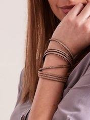 Bransoletka damska typu wrap podwójna złota GLITTER