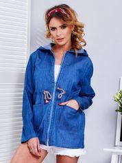Ciemnoniebieska bluza z kapturem