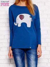 Ciemnoniebieska bluzka ze słoniem