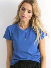 Ciemnoniebieski t-shirt Peachy
