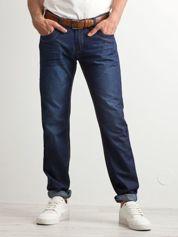 Ciemnoniebieskie klasyczne jeansy męskie