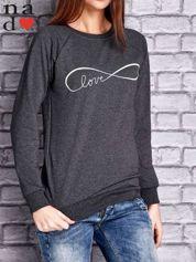 Ciemnoszara bluza z napisem LOVE
