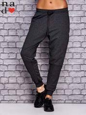 Ciemnoszare spodnie dresowe z zasuwaną kieszonką