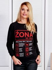 Czarna bluza damska ŻONA SP. ZO.O.