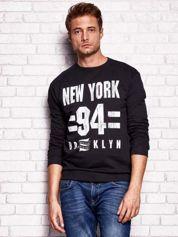 Czarna bluza męska z napisem NEW YORK