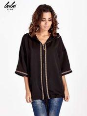 Czarna bluza z kapturem w stylu boho