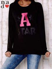 Czarna bluza z napisem A STAR
