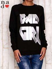Czarna bluza z napisem BAD GIRL
