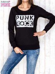 Czarna bluza z napisem PUNK ROCK