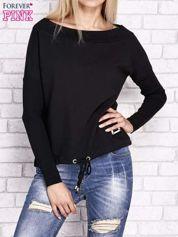 Czarna bluza z szerokim ściągaczem i troczkami