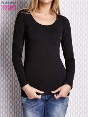 Czarna bluzka z koronkowym tyłem