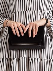 Czarna damska torebka kopertówka