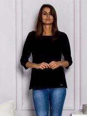 Czarna dresowa bluzka z suwakami