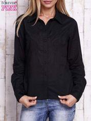 Czarna koszula z aplikacją