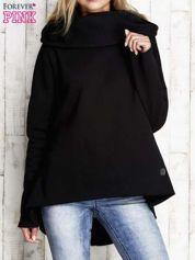 Czarna ocieplana bluza z surowym wykończeniem