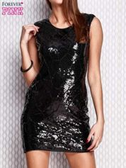 Czarna ołówkowa sukienka z cekinami