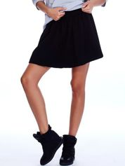 Czarna rozkloszowana dresowa spódnica
