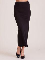 Czarna spódnica maxi z rozporkiem