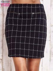 Czarna spódnica z graficznym wzorem i suwakami