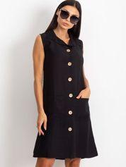 Czarna sukienka Safari
