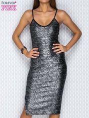 Czarna sukienka tuba na cienkich ramiączkach