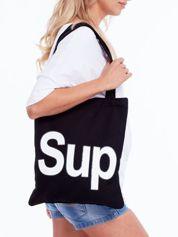 Czarna torba materiałowa z napisem SUP